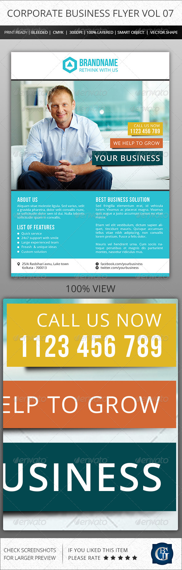 Corporate Creative Business Flyer Vol 07 - Corporate Flyers