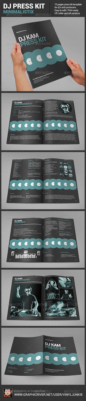 Minimalistix - DJ Press Kit - Portfolio Brochures