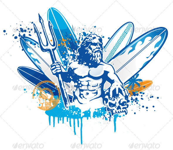 Poseidon Surfer - Sports/Activity Conceptual