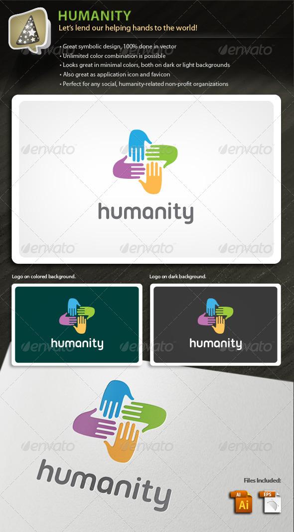 Humanity - Logo For Social Non-profit Organization - Symbols Logo Templates