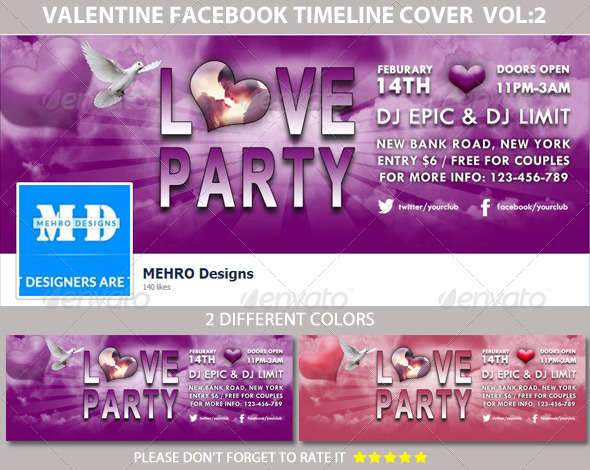 Love Party Facebook Timeline Cover - Facebook Timeline Covers Social Media