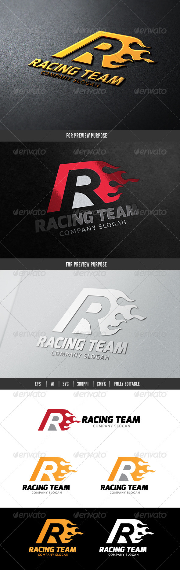 Racing Team - Letters Logo Templates