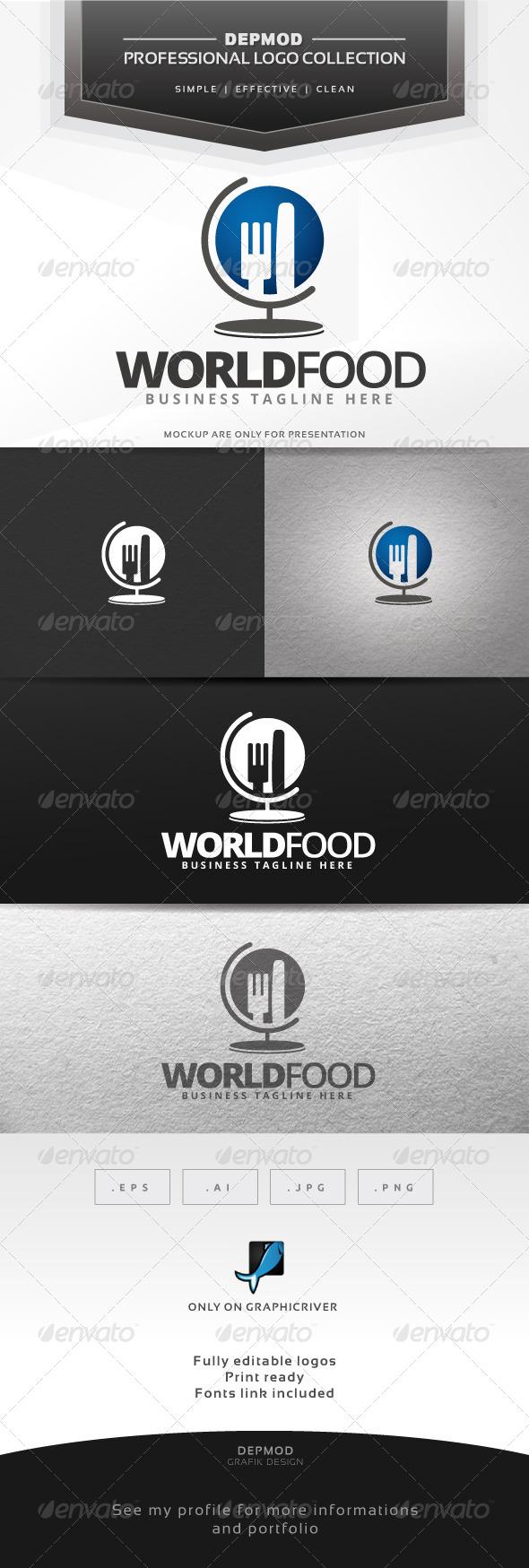 World Food Logo - Symbols Logo Templates