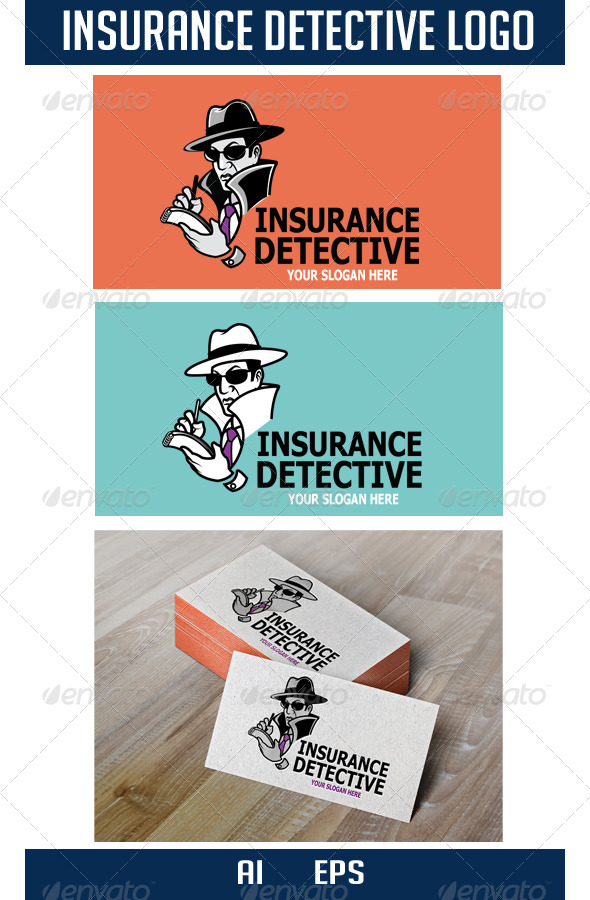 Insurance Detective Logo - Humans Logo Templates