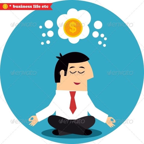 Manager Meditating on Money and Success - Concepts Business