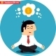 Manager Meditating on Money and Success - GraphicRiver Item for Sale