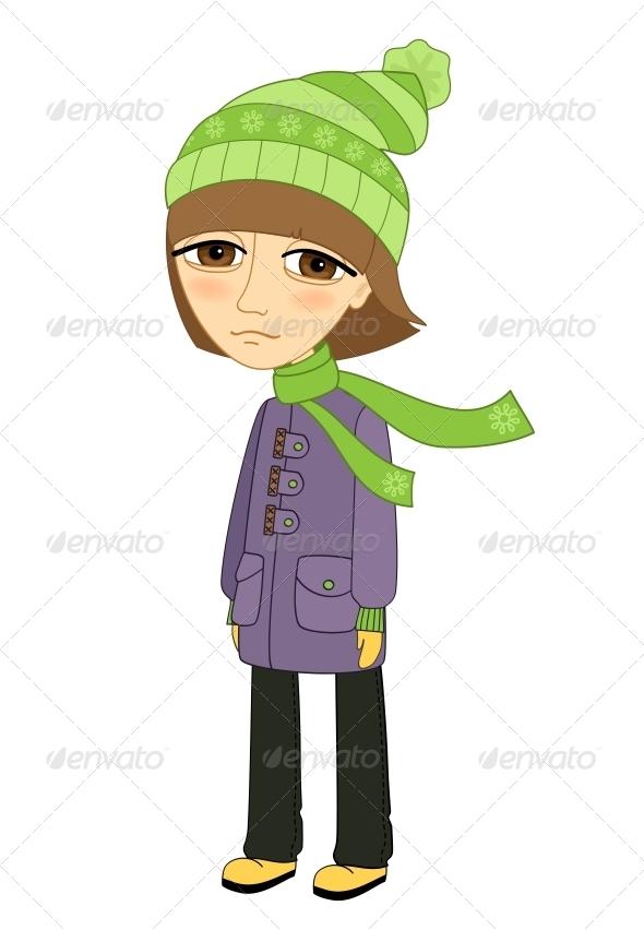 Girl Standing - People Characters