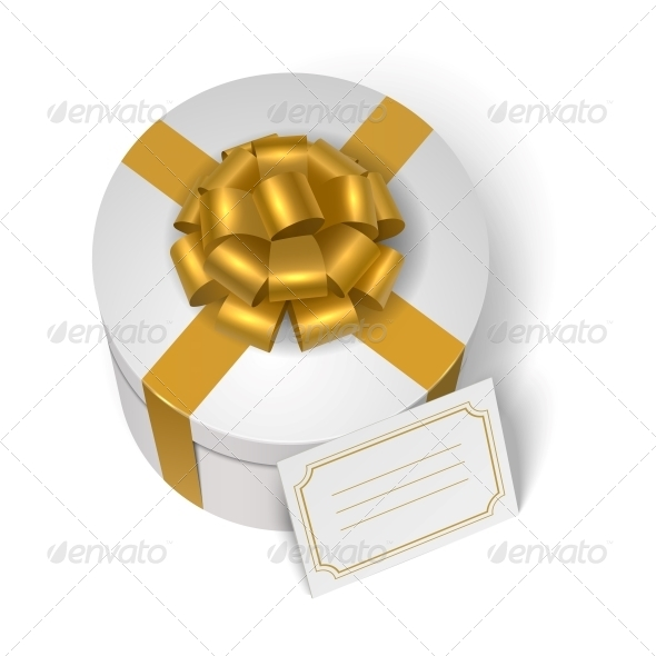 Wedding Present Box with Yellow Ribbon - Weddings Seasons/Holidays