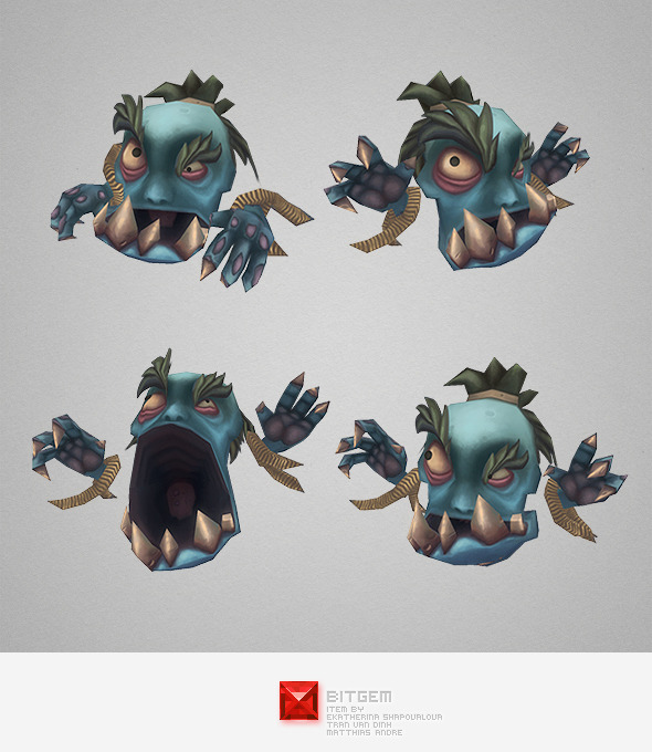 Low Poly Micro Ghoul Gobrot - 3DOcean Item for Sale