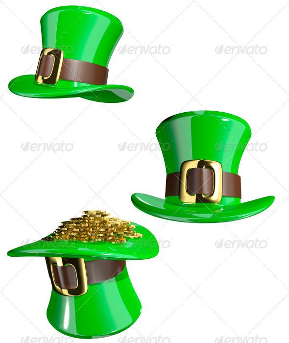 St. Patrick's Hat - Objects 3D Renders