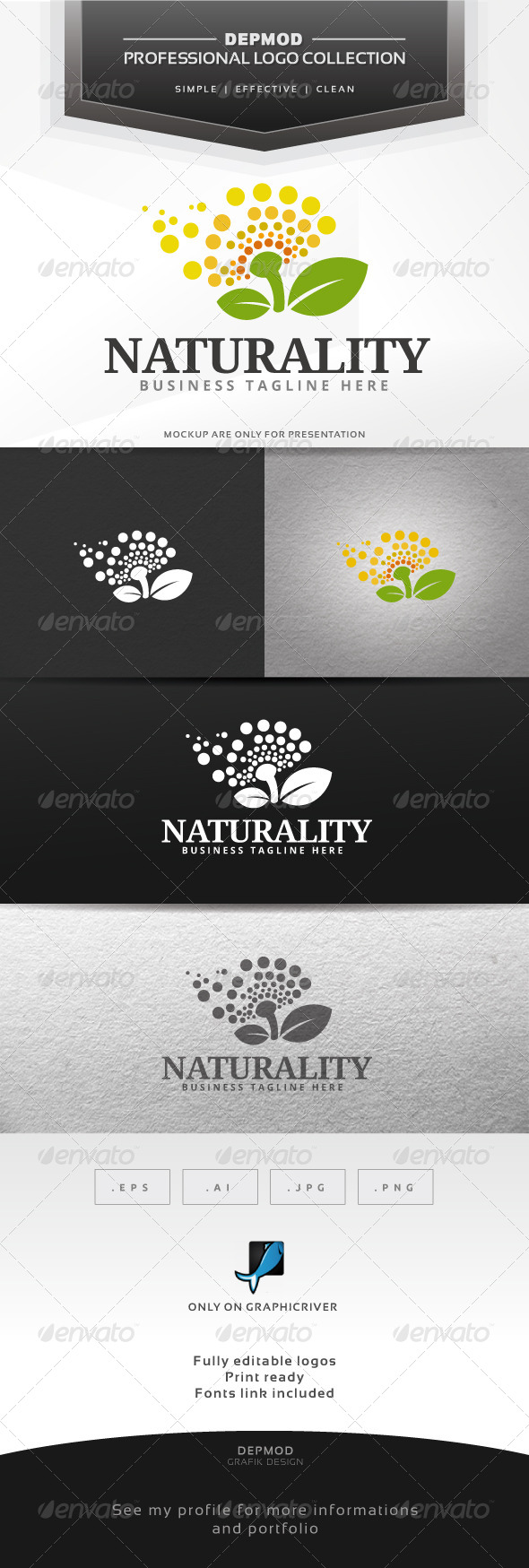 Naturality Logo - Nature Logo Templates