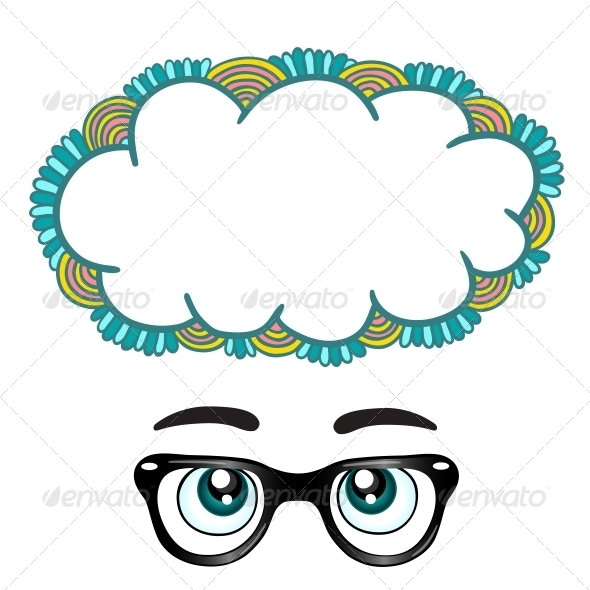 Glasses with Eyes Dreaming Concept - Miscellaneous Vectors