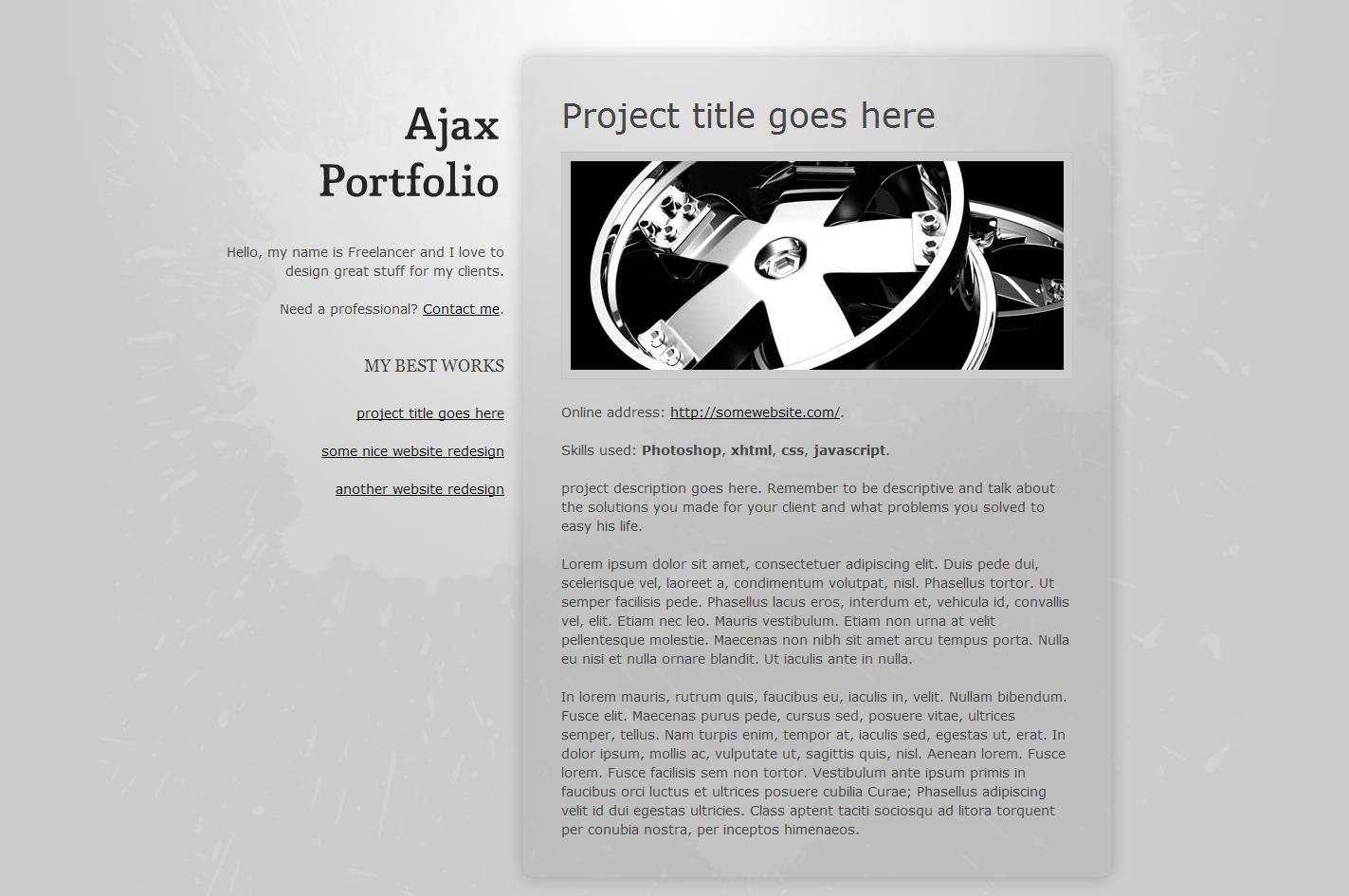 Free Download Ajax Portfolio Nulled Latest Version