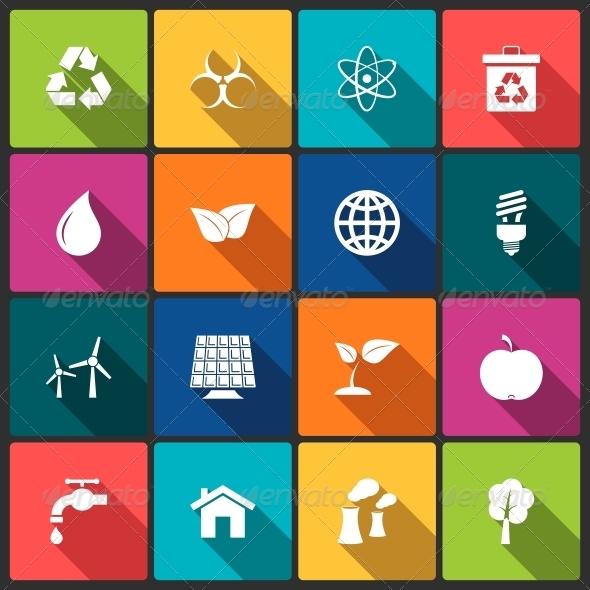 Ecology Icons Set - Web Technology