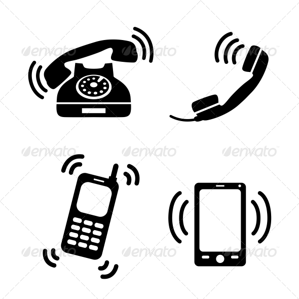 Collection of Ringing Phones - Communications Technology