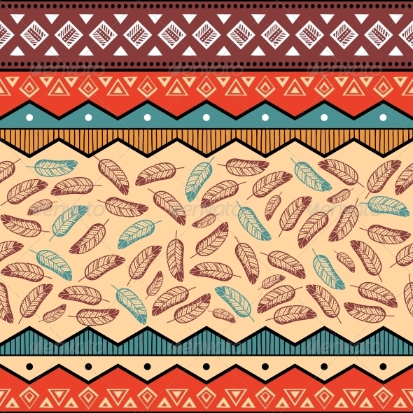 Ethnic Tribal Pattern Background - Backgrounds Decorative