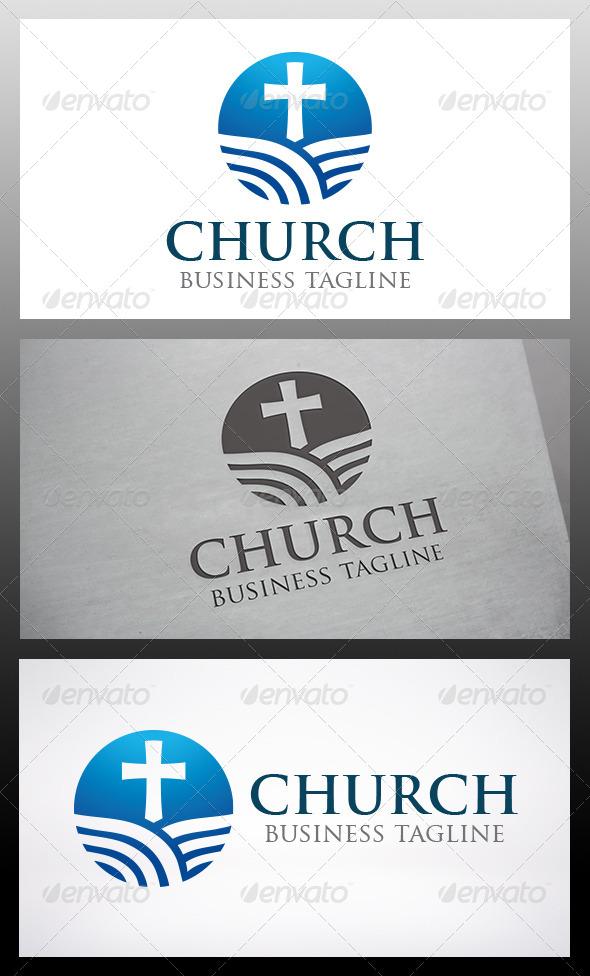Modern Church Logo - Objects Logo Templates