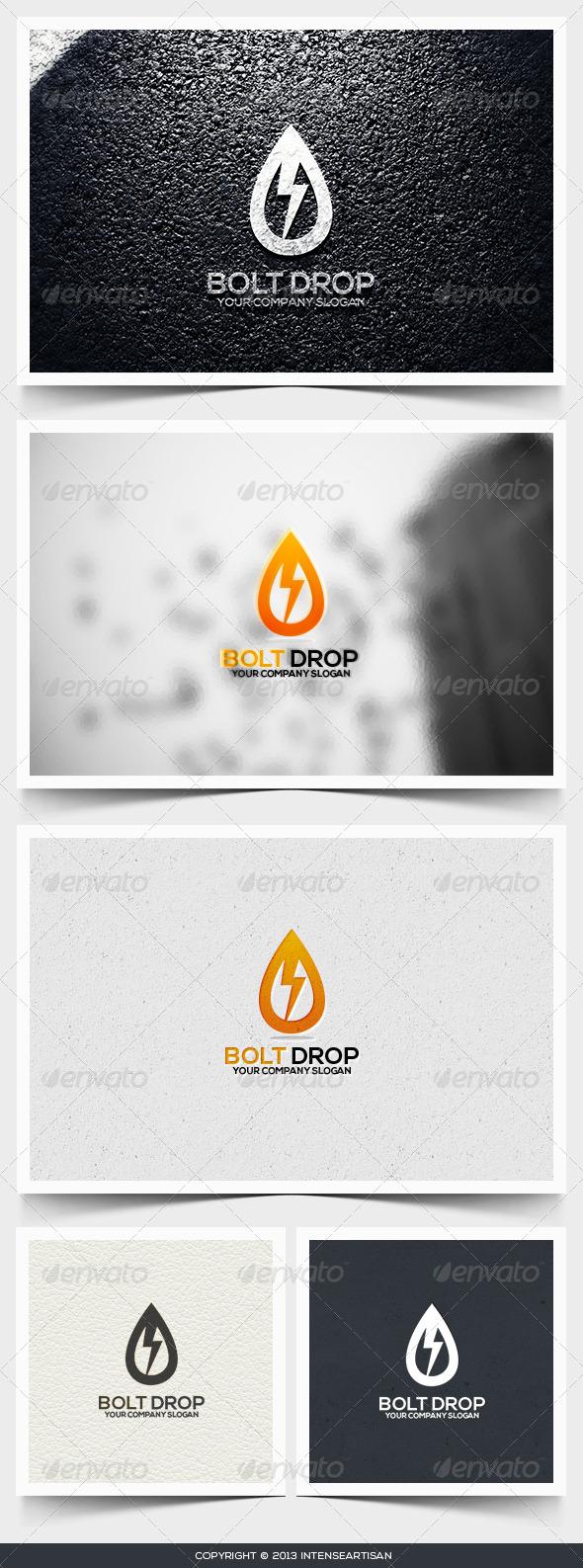 Bolt Drop Logo Template - Objects Logo Templates
