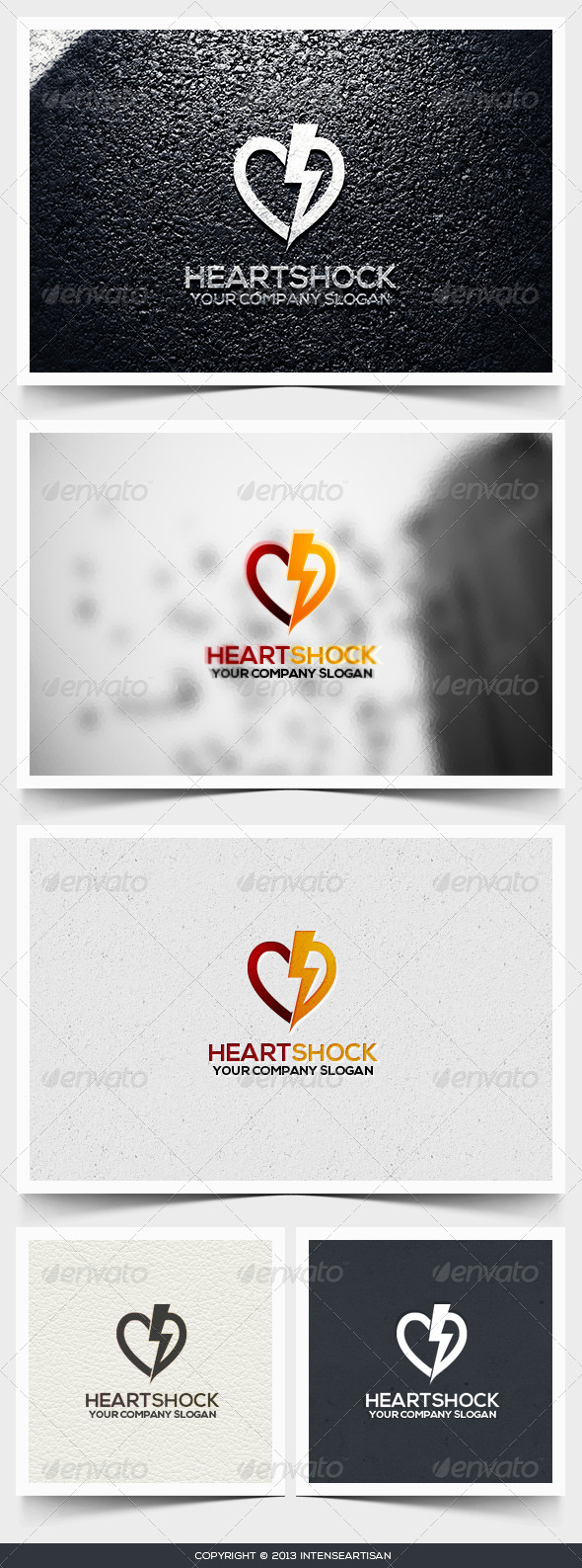 Heart Shock Logo Template - Objects Logo Templates