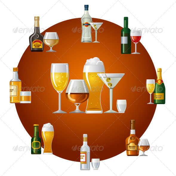 Alcohol Drinks - Food Objects