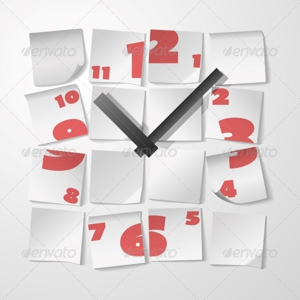 Clock with Digits - Concepts Business