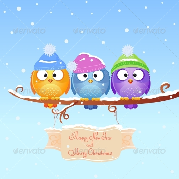 Christmas Bird - Animals Characters