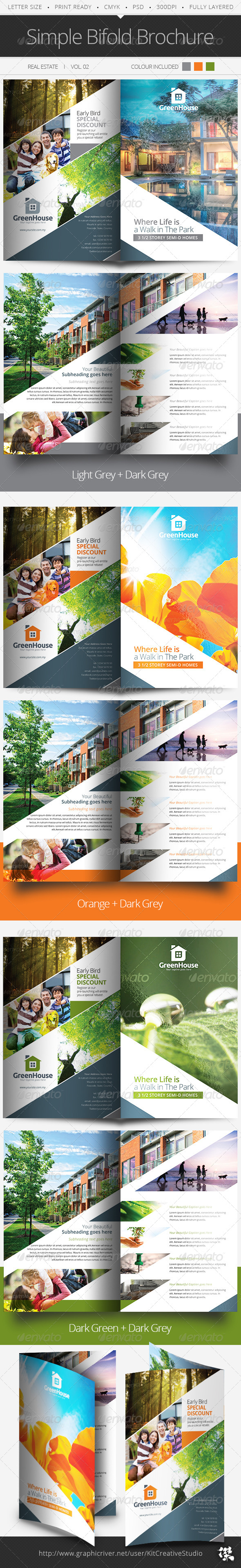 Simple Bifold Brochure Vol.02 - Informational Brochures