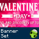 27 - Valentine's Day Banner Set - GraphicRiver Item for Sale