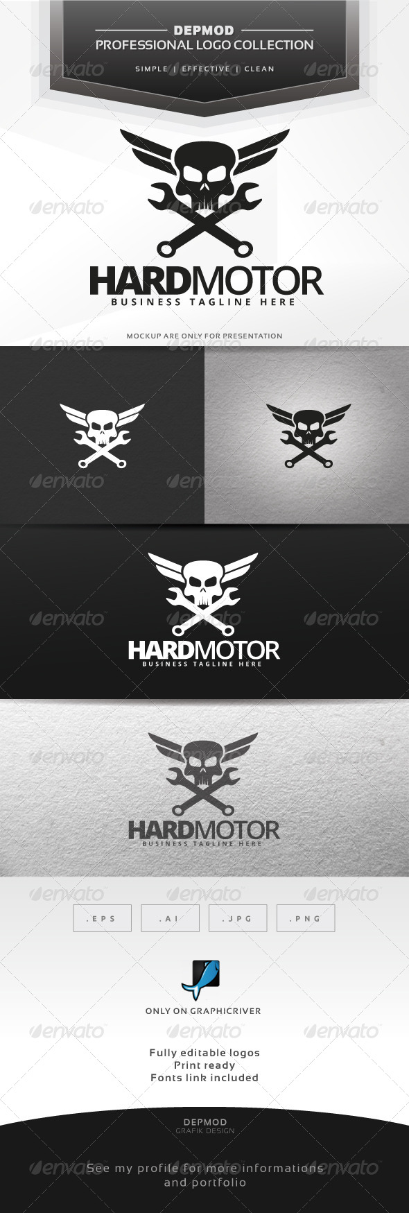 Hard Motor Logo - Symbols Logo Templates