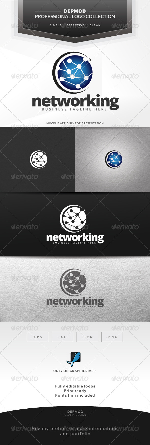 Networking Logo - Abstract Logo Templates
