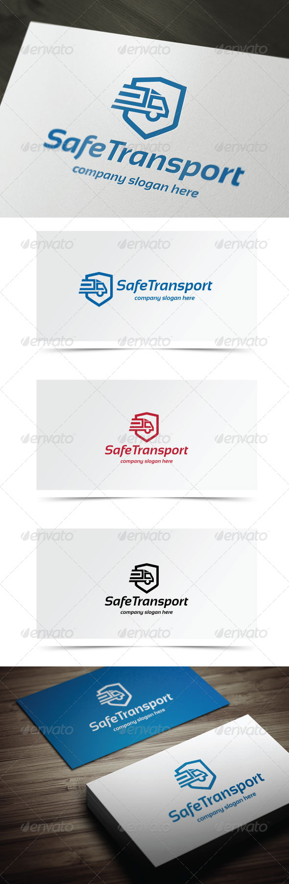 Safe Transport - Objects Logo Templates