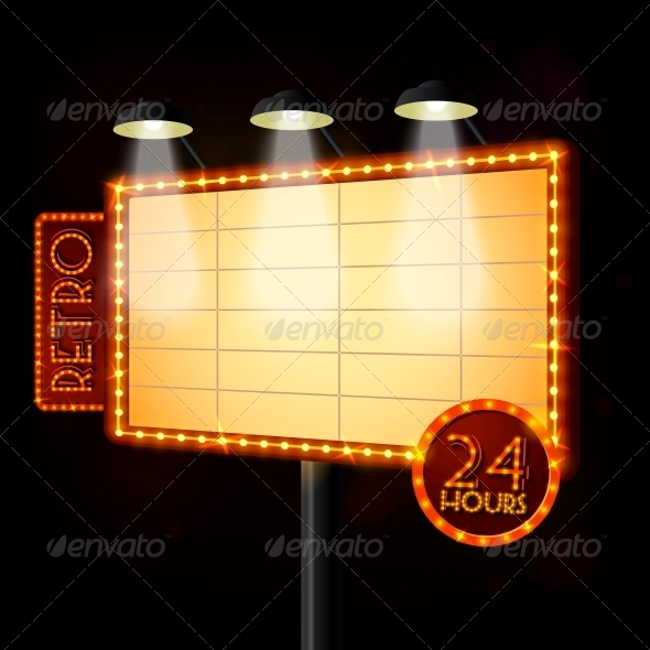 Blank Illuminated Billboard Poster - Retail Commercial / Shopping