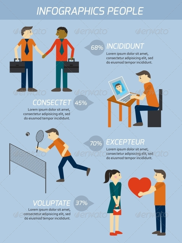 People Relations Infographics Elements - Concepts Business