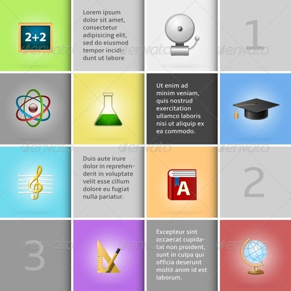 Education Infographic Elements - Concepts Business