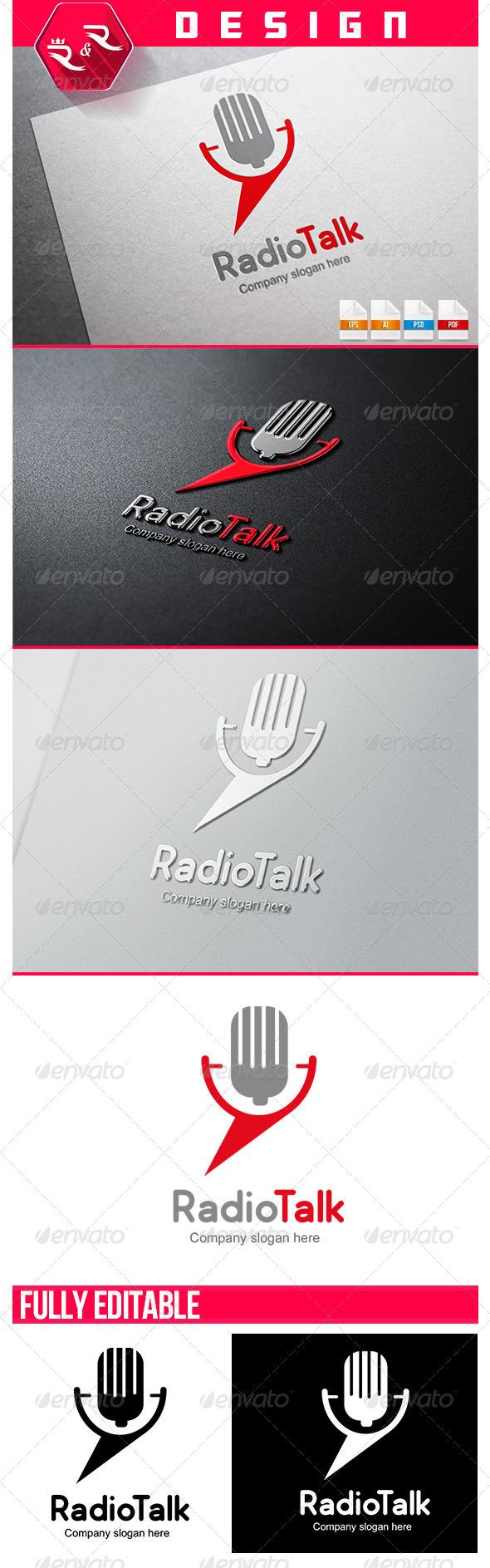 Radio Talk Logo - Objects Logo Templates