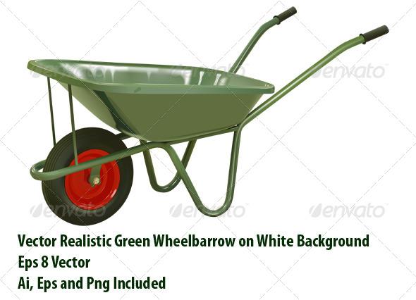 Wheelbarrow - Objects Vectors