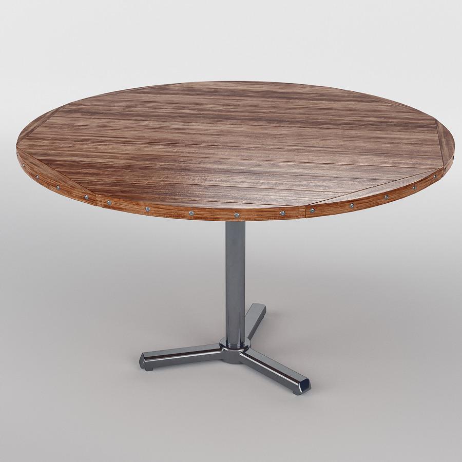 Merveilleux Round Rough Wood Table