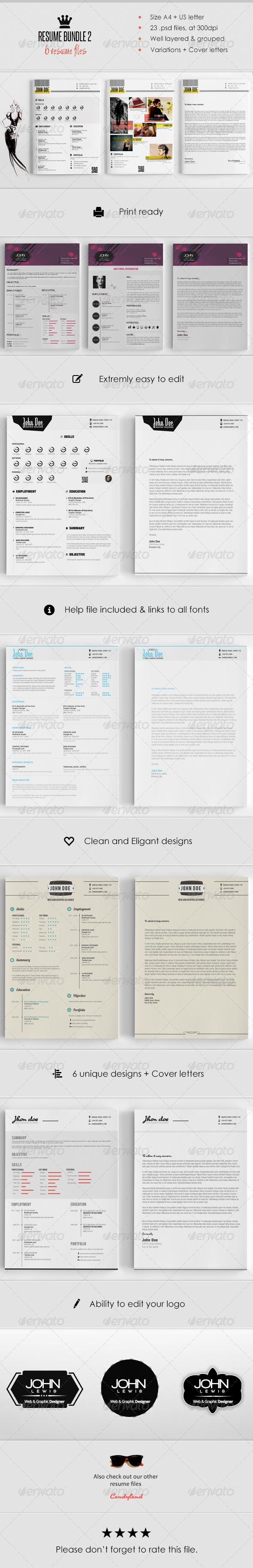 Resume Bundle (6 in 1) - Resumes Stationery