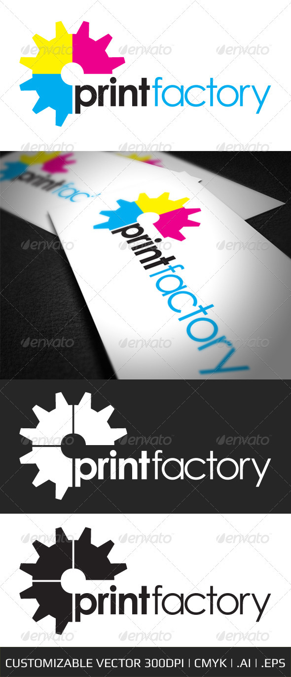 Print Factory Logo Template - Objects Logo Templates