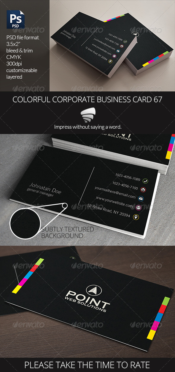 Colorful Corporate Business Card 67 - Corporate Business Cards