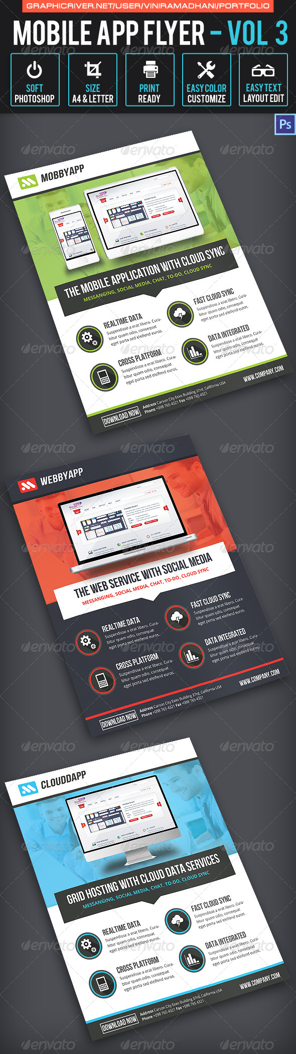 Mobile App Flyer | Volume 3 - Corporate Flyers