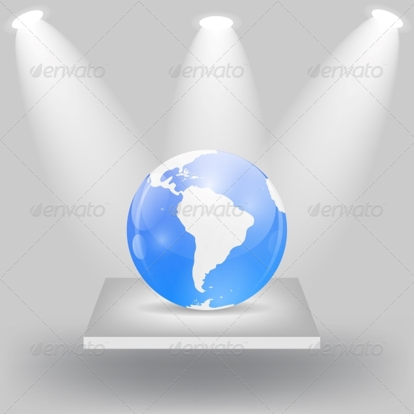 Globe Icon Vector Illustration - Backgrounds Business