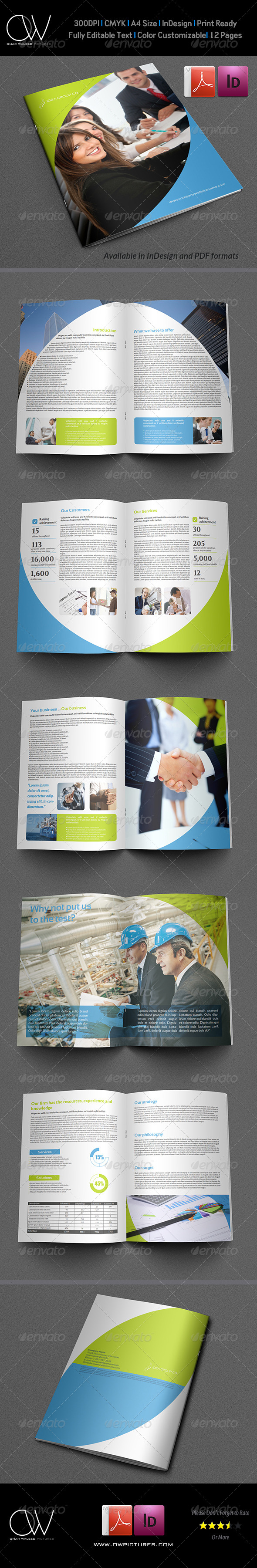 Company Brochure Template Vol.18 - 12 Pages - Corporate Brochures