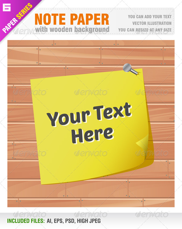 Note Paper - Backgrounds Decorative