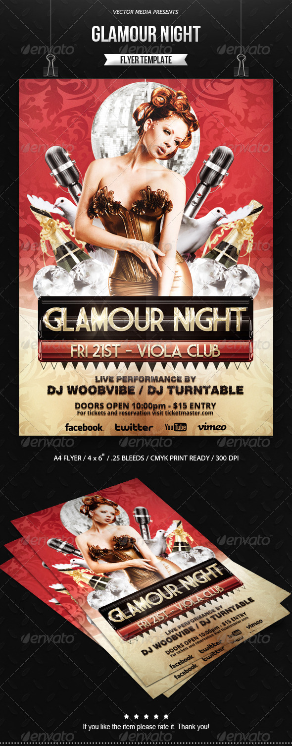 Glamour Night - Flyer - Clubs & Parties Events