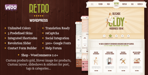 Retro - Vintage WordPress Theme - WooCommerce eCommerce