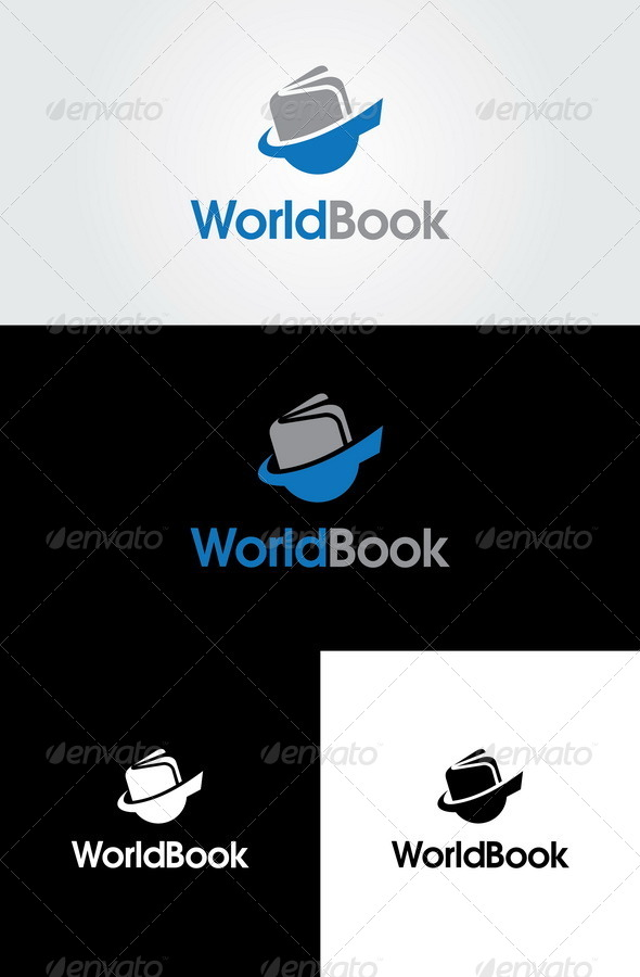 World Book Logo Template - Objects Logo Templates
