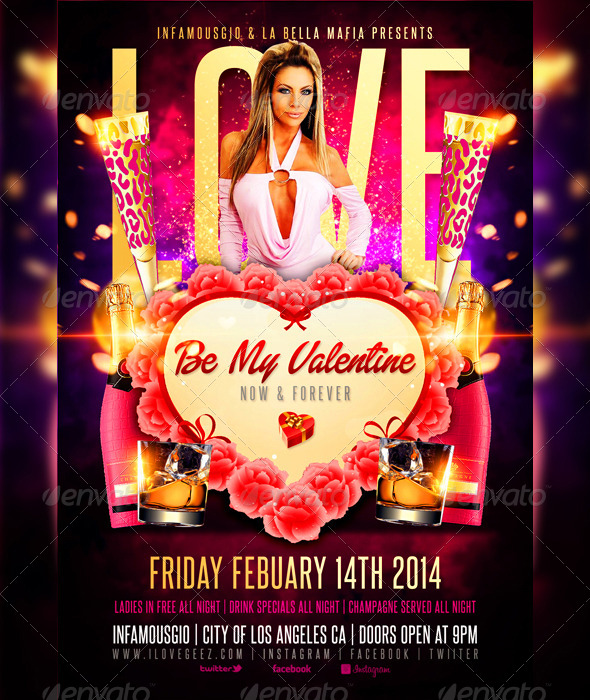Valentines Day 1 - Events Flyers