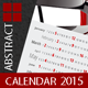 Poster Calendar Abstract Template 2015 (2014) - GraphicRiver Item for Sale