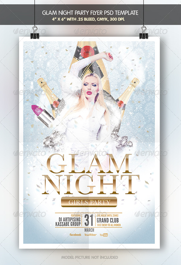 Glam Night | Party Flyer - Clubs & Parties Events